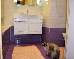 Фото ремонта ванной комнаты: ул. Амунсена